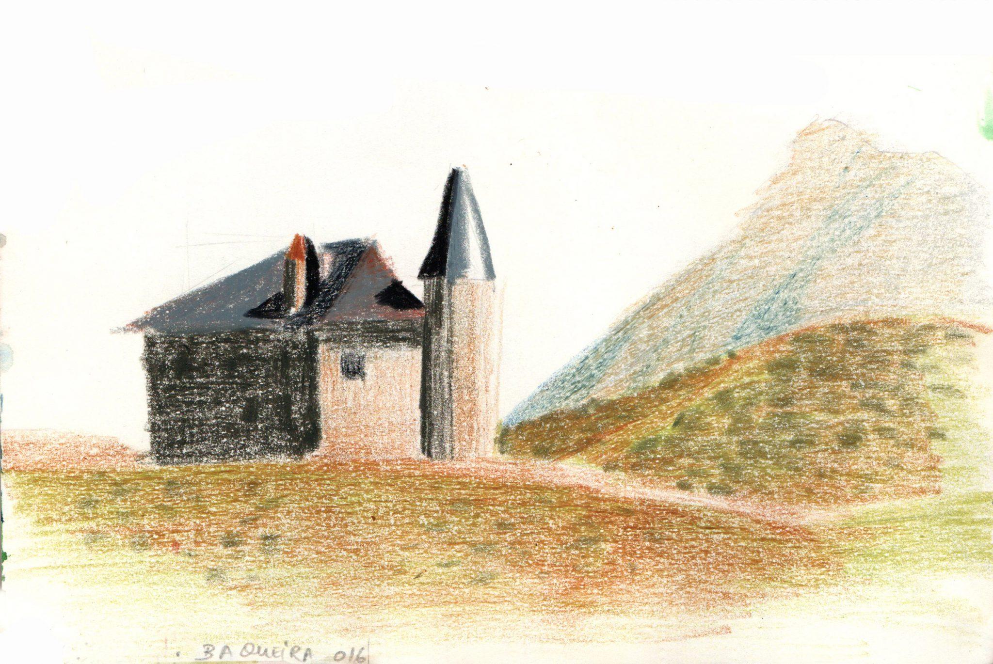 baqueira-casa-paisaje-alejandra-caballero-ceras-dibujo