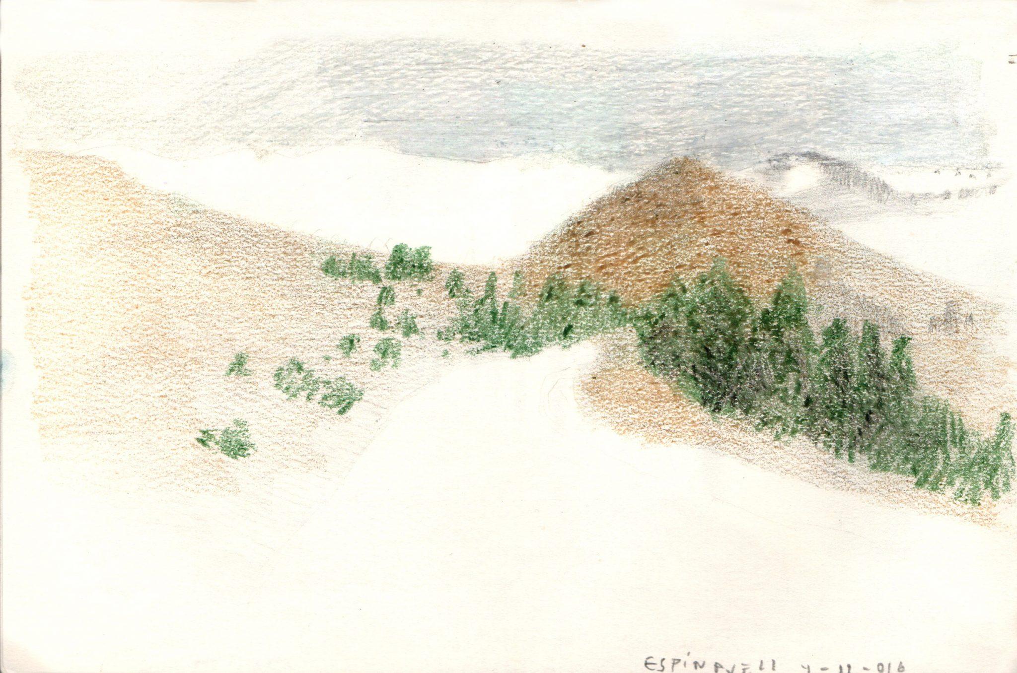espinavell-ceras-alejandra-caballero-dibujo-montañas-paisaje