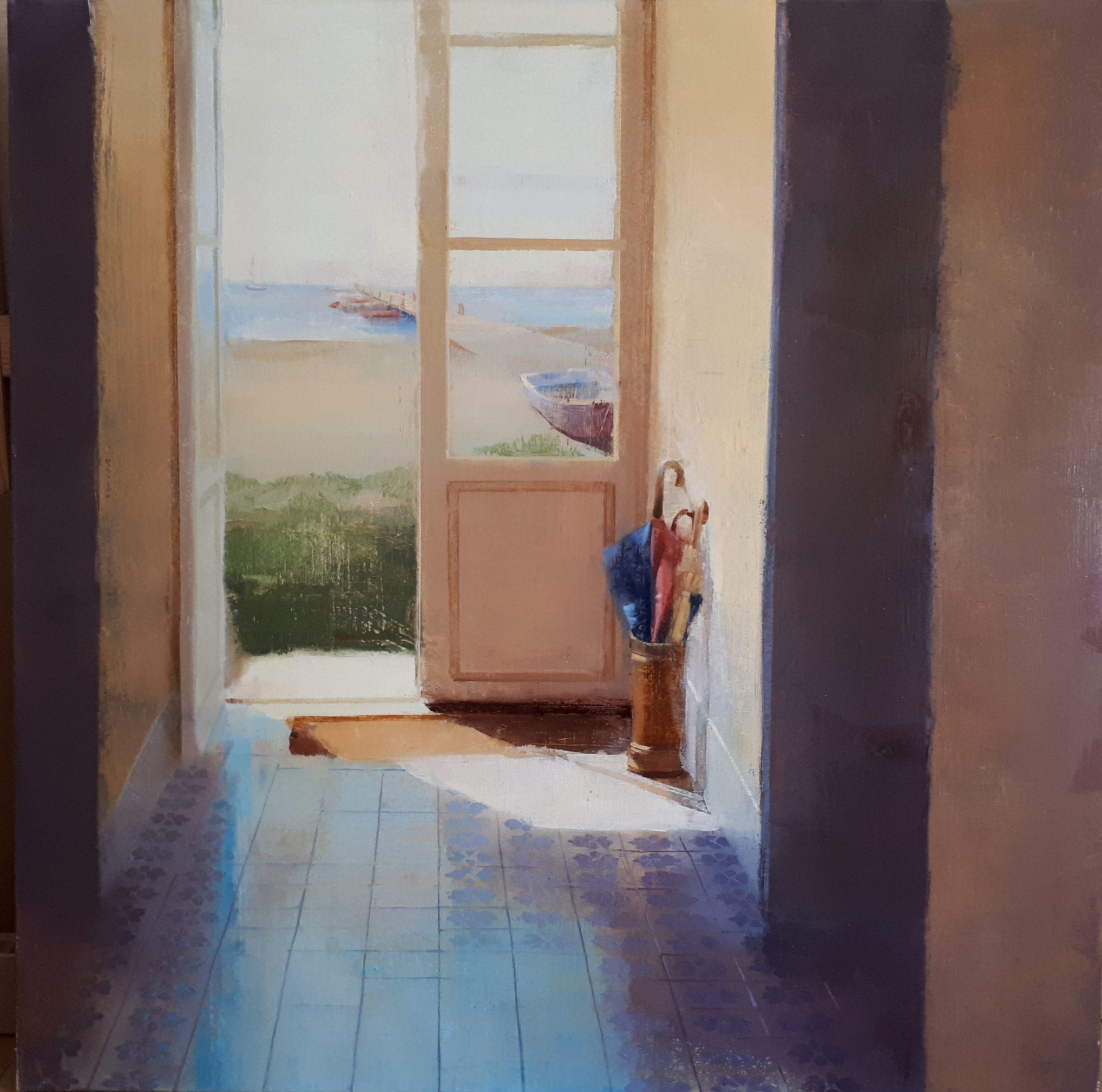 sol-de-mayo-interior-pasillo-luz-sol-playa-mar-alejandra-caballero-oleo