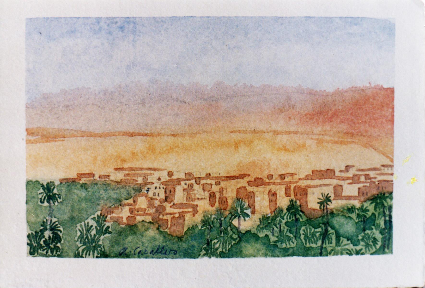 tunez-acuarela-alejandra-caballero-paisaje
