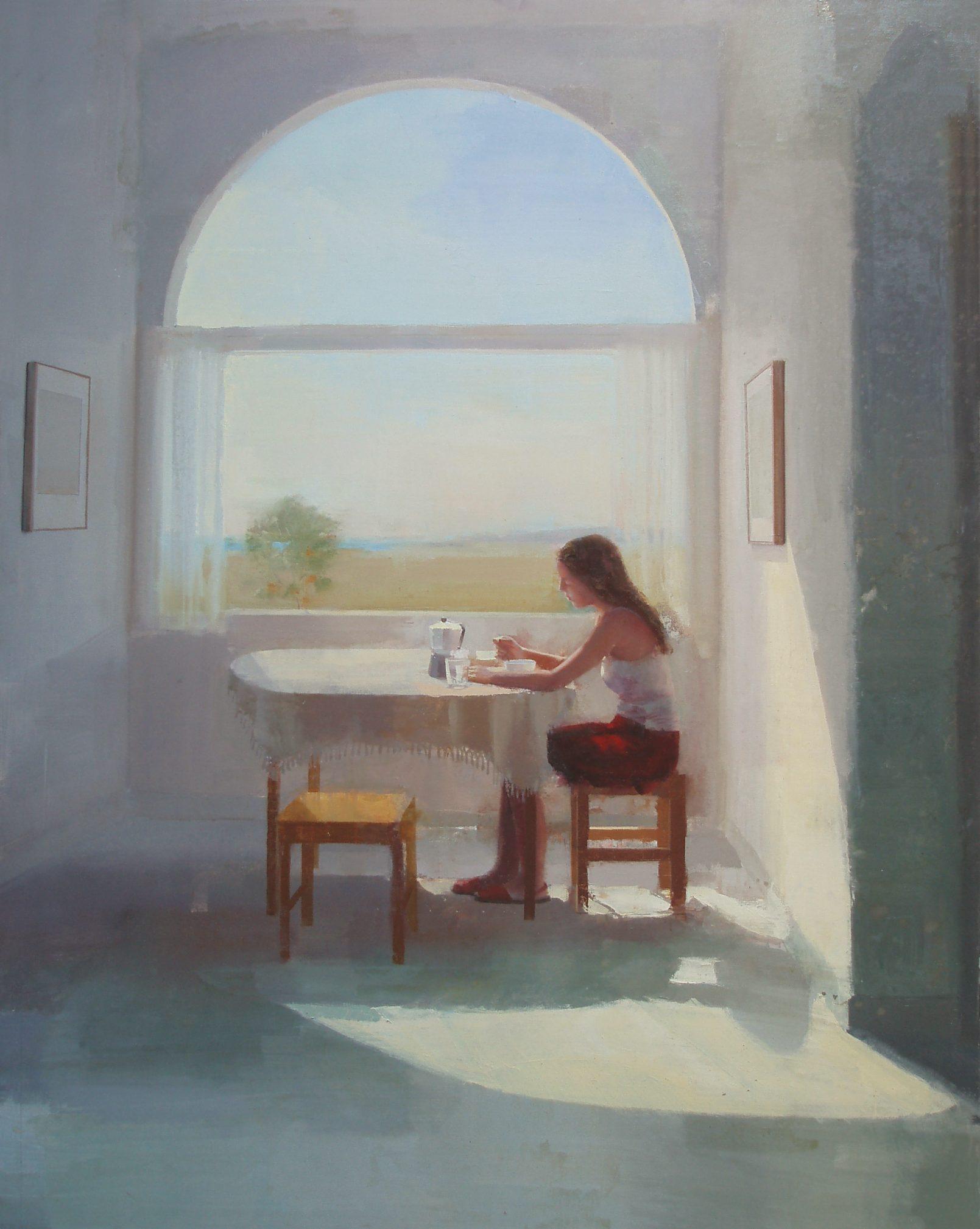 desayuno-interior-mujer-oleo-luminoso-luz-alejandra-caballero