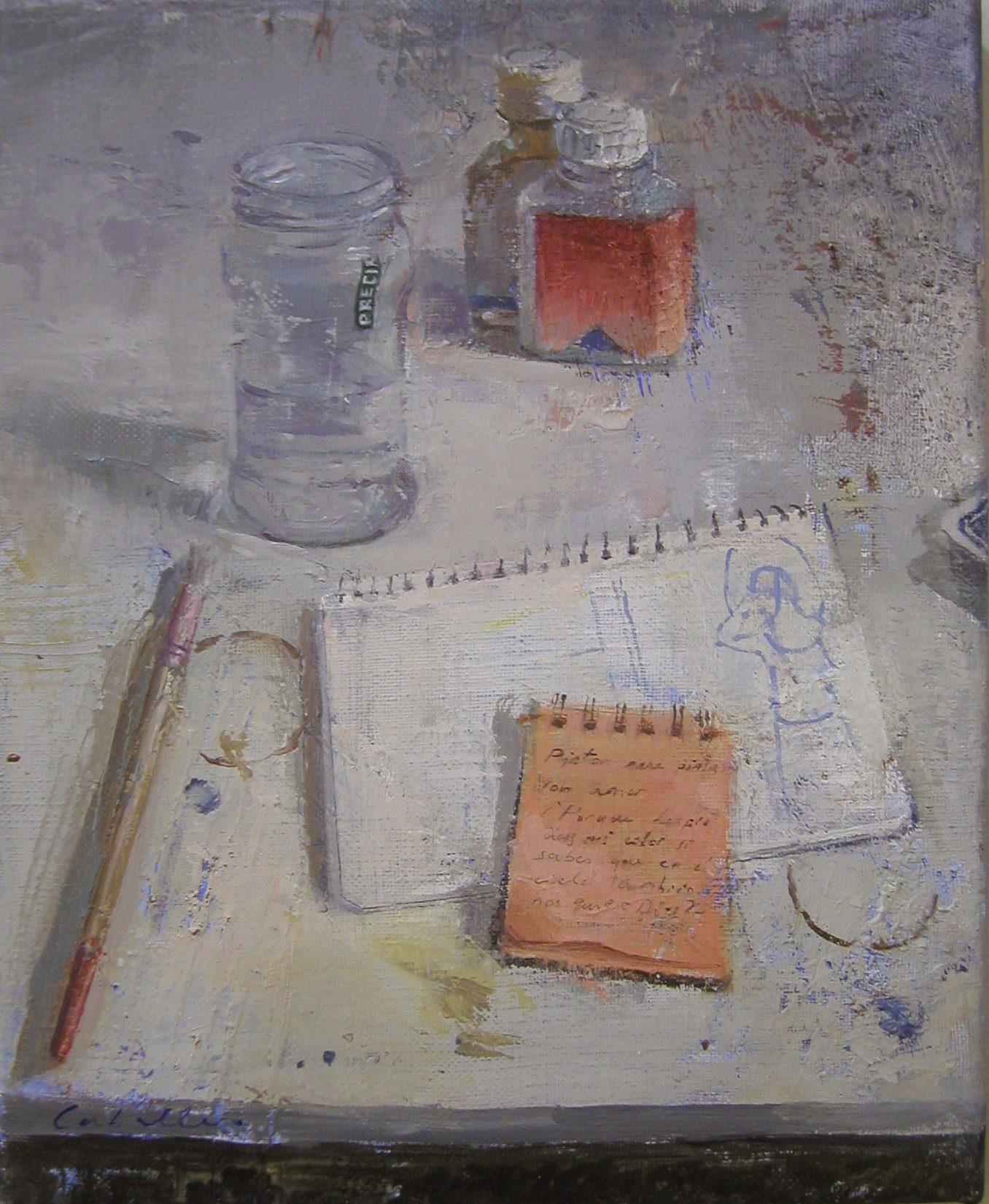 mesa-de-pintor-botes-pincel-objetos-alejandra-caballero
