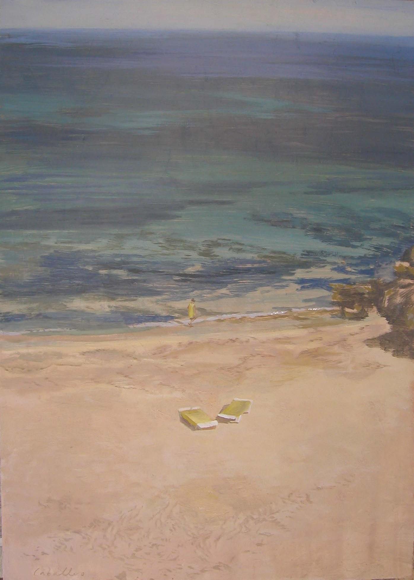 Encuentro-73-x-52-cm-alejandra-caballero-mar-playa-verano-óleo-sobre-tabla