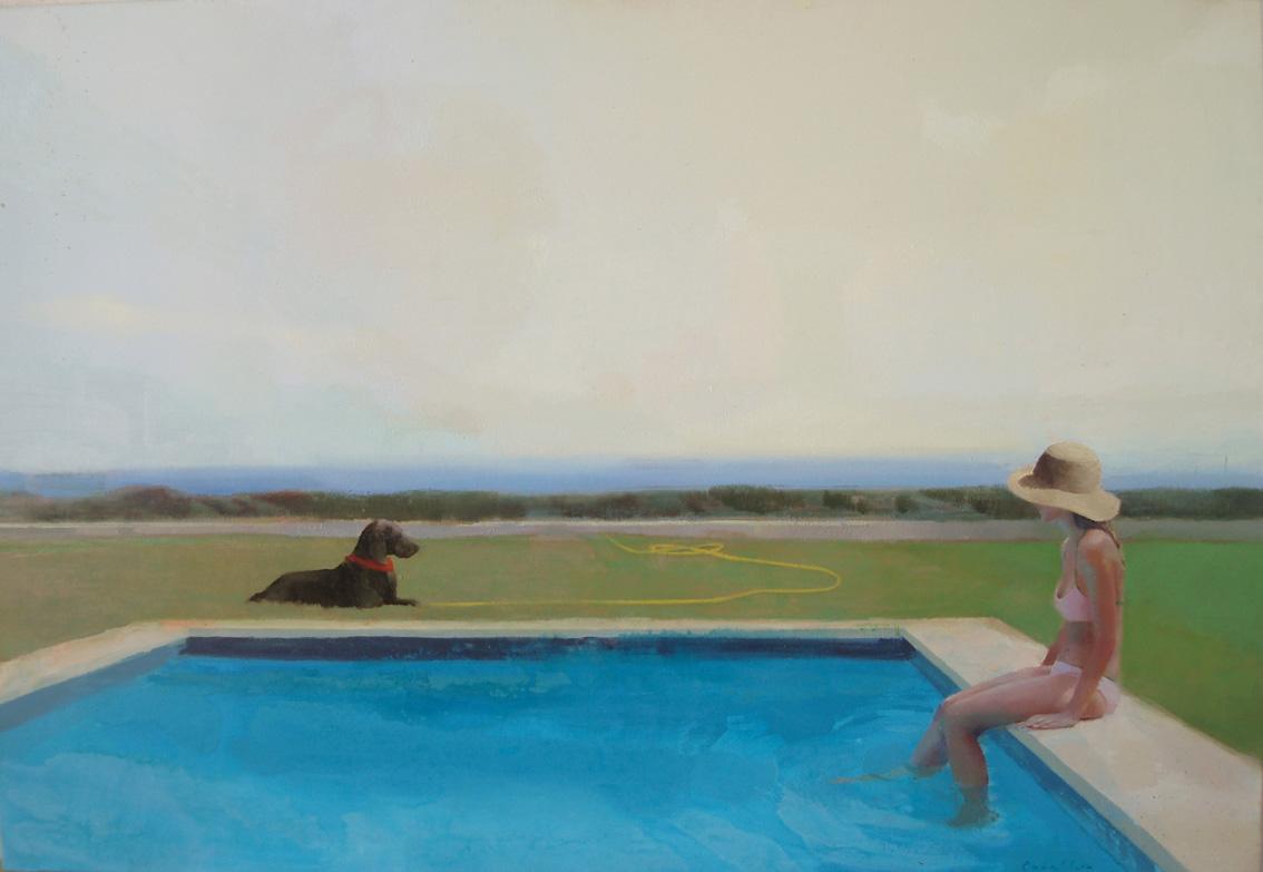 piscina-alejandra-caballero-oleo-verano-vacaciones
